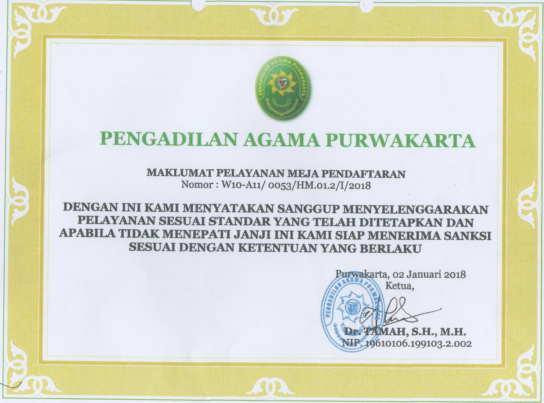 Maklumat Pelayanan Meja Pendaftaran