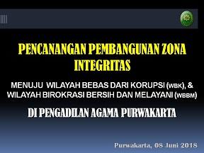 Pencanangan Pembangunan Zona Integritas
